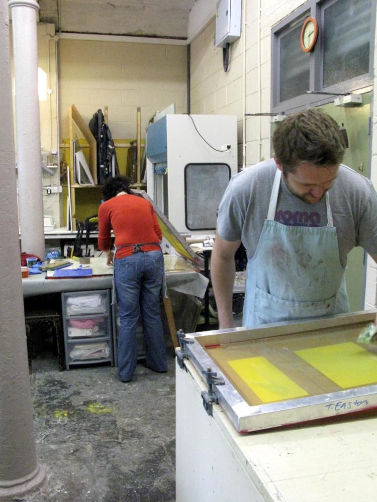 Silk Screen Printing onto Glass workshops 2012 (1/3)