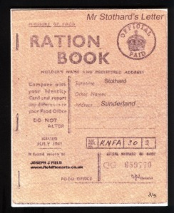 Family owned ration book