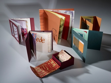 Hand made books by participants