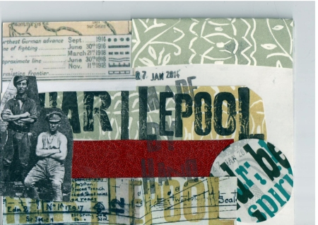Mail Art produced by young person at Throston Youth Centre in Hartlepool