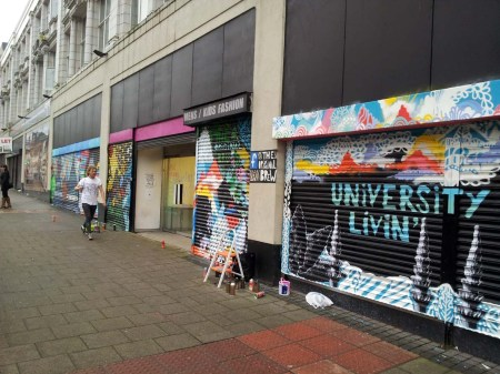 The Hub on Shields Road: Artwork by theoriginabrew (Wil pictured)