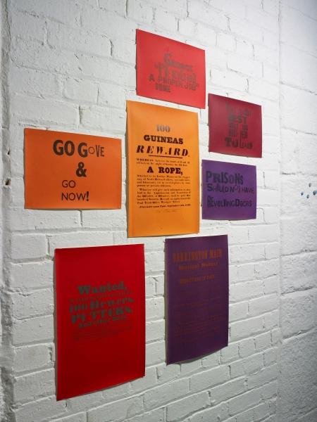 Rants & Ravings letterpress print & screen print 90x 45cm 2013
