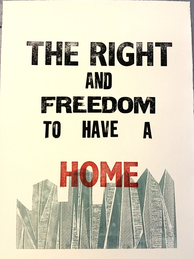 the right & freedom to have a home